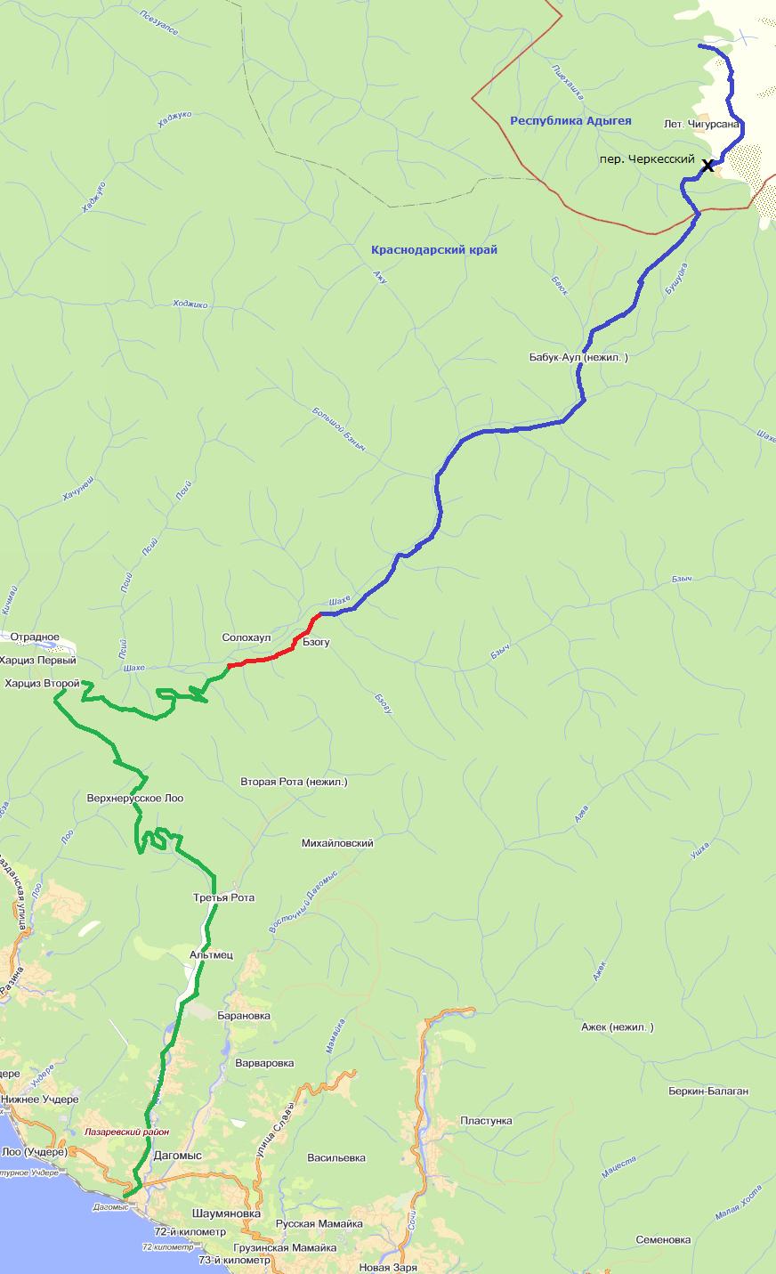 горная гонка солох аул 2013 схема трассы